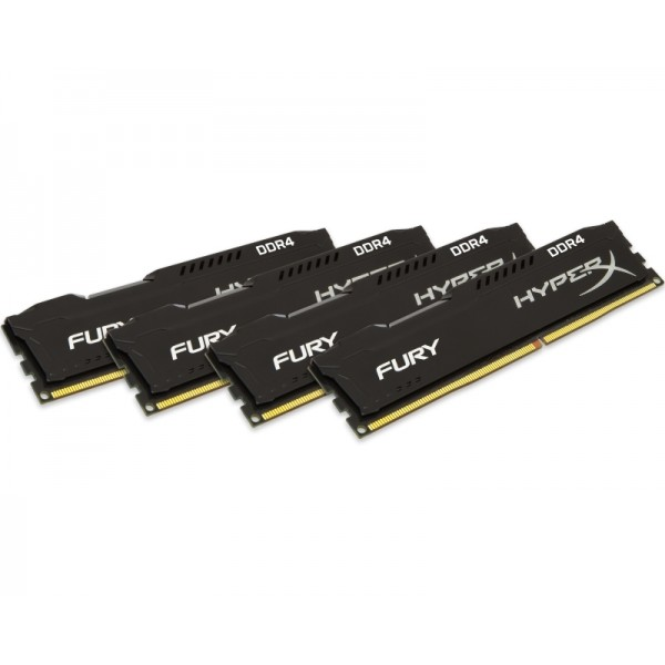 Kingston HX 64GB DDR4 2666MHz CL16 kit (HX426C16FBK4/64) HyperX Fury Black